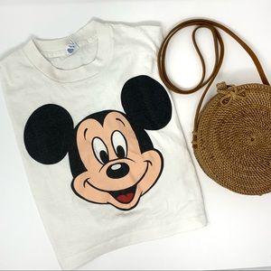 Vintage Disney Mickey Mouse Crop Cotton Tee